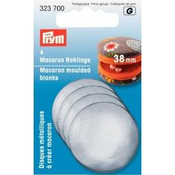 Disques Metalliques A Creer Macaron 38 Mm Prym Réf 323700