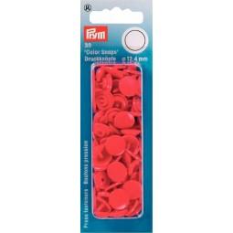 Boutons Pression  Color Snaps Rouge 12,4 Mm Prym Réf 393138