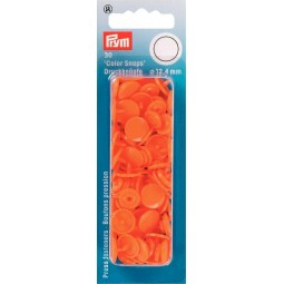 Boutons Pression  Color Snaps Orange 12,4 Mm Prym Réf 393140