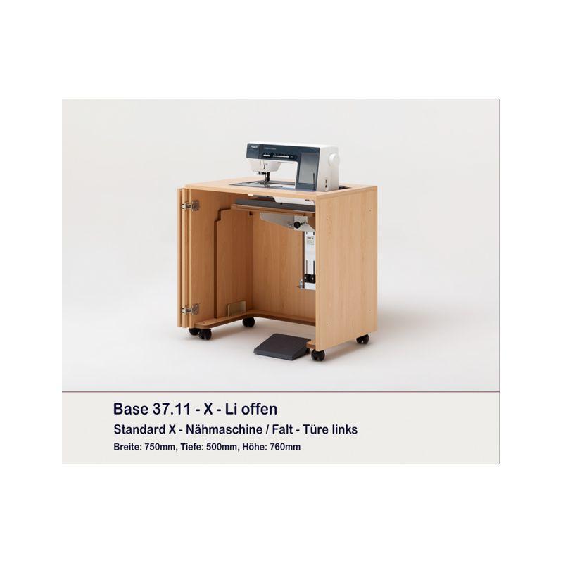 meuble rangement machine coudre ou surjeteuse base. Black Bedroom Furniture Sets. Home Design Ideas