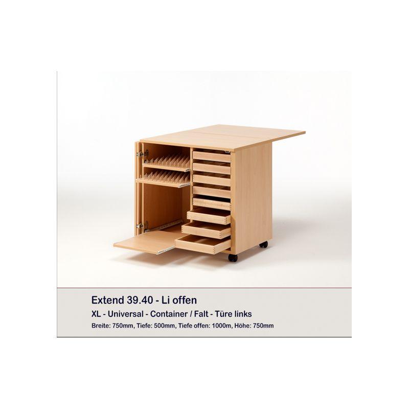 meuble container et 8 plateaux extend rauschenberger europ 39 distri. Black Bedroom Furniture Sets. Home Design Ideas