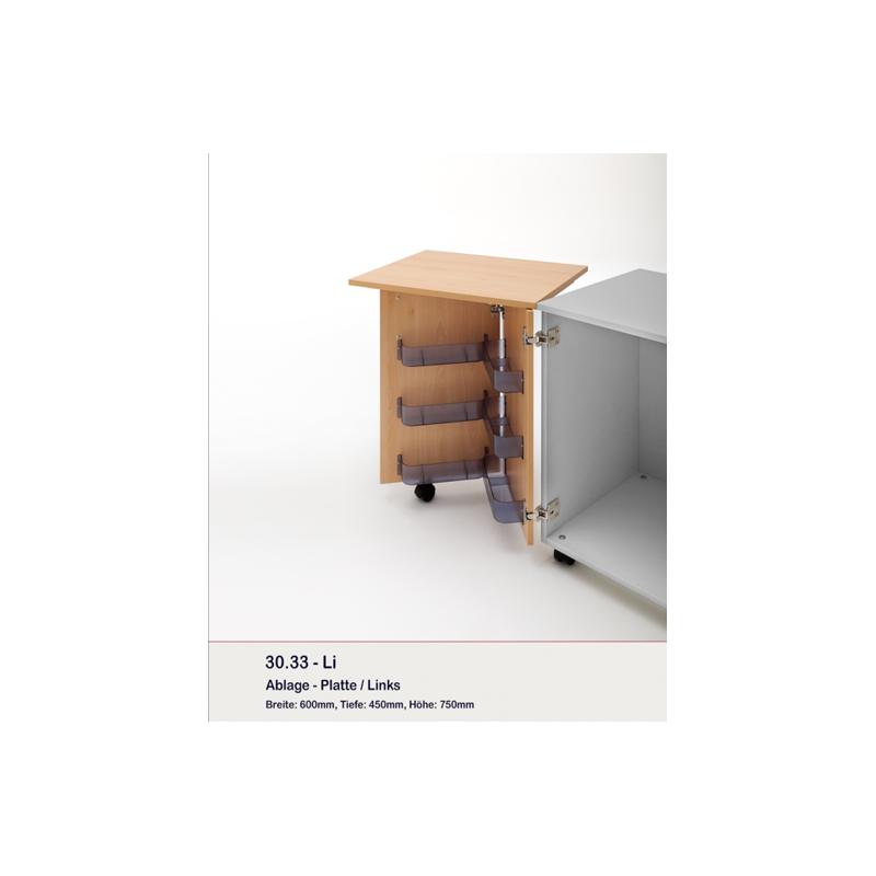 Option tablettes avec plateau amovible pour meubles 37.22 et 37.1