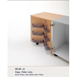 Option tablettes avec plateau fixe pour meubles 37.22 et 37.11