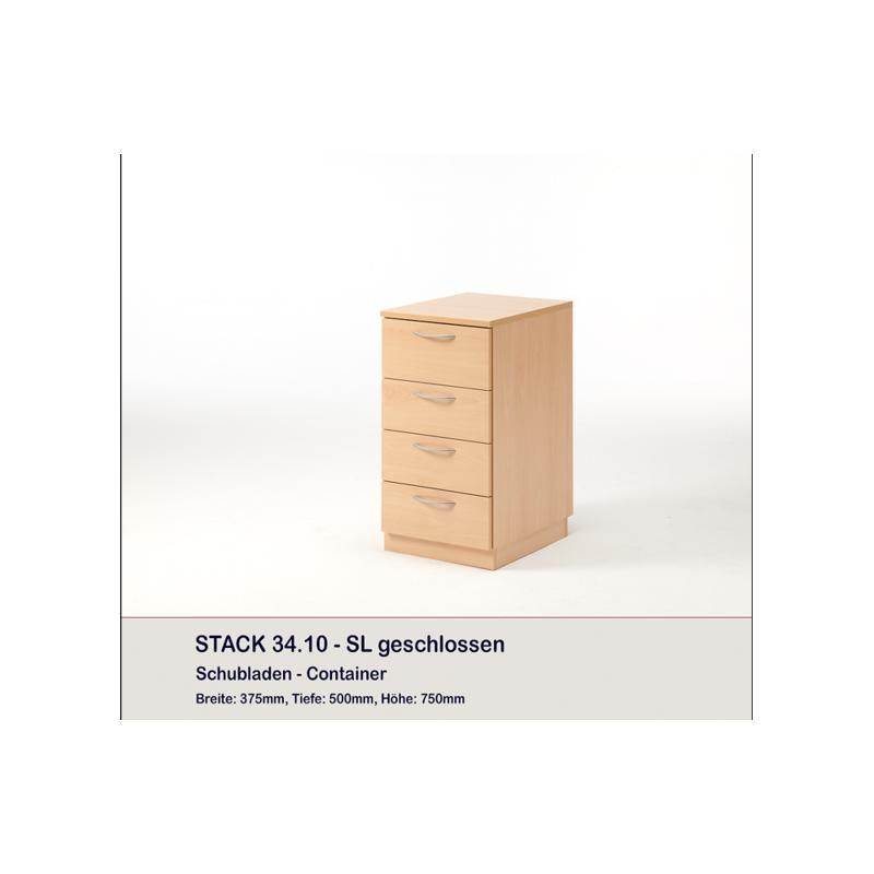 Meuble rangement 4 tiroirs stack rauschenberger europ - Meuble rangement aspirateur ...