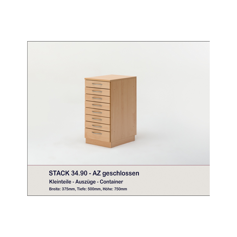 meuble rangement fils 8 tiroirs stack