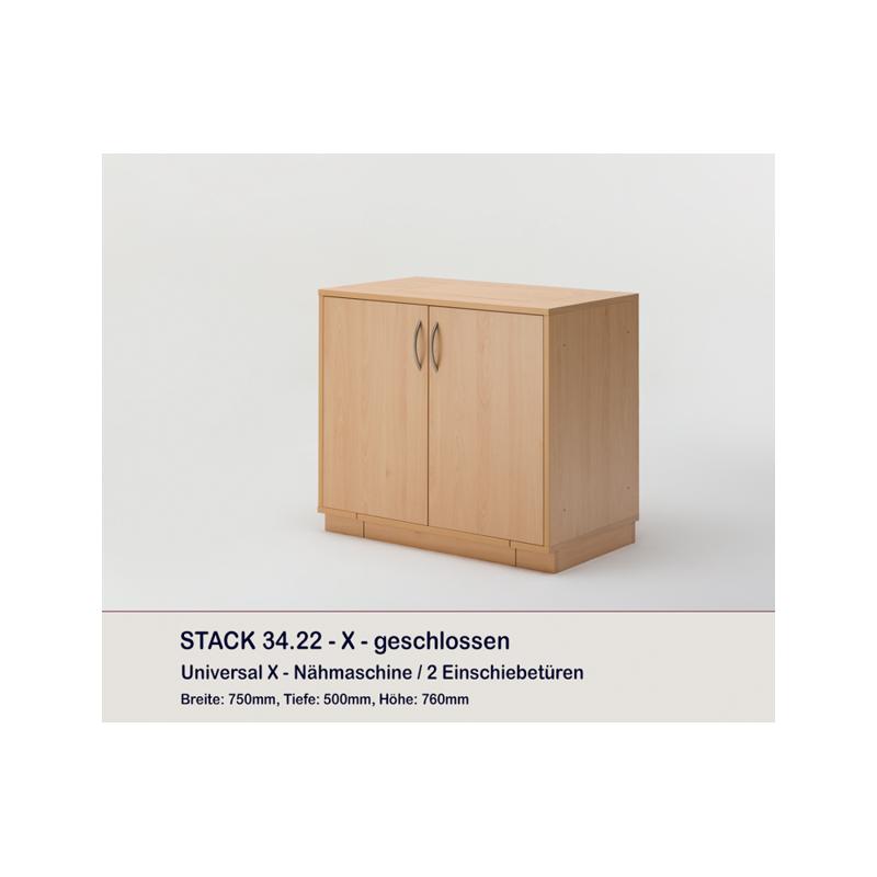 meuble rangement machine coudre ou surjeteuse stack deux portes rauschenberger europ 39 distri. Black Bedroom Furniture Sets. Home Design Ideas