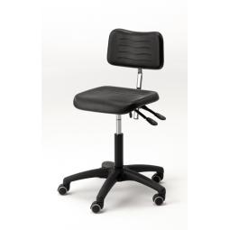 Chaise sur roulette réglable en hauteur