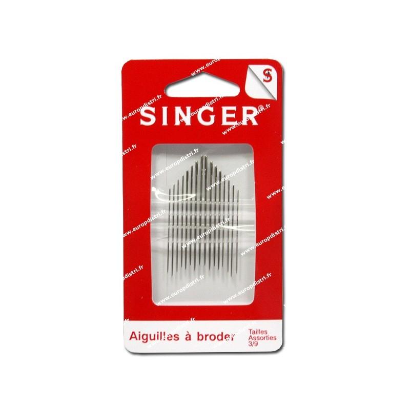 Aiguilles à broder assorties n°3 a 9 SINGER SF200.39 Réf 57/95/1082