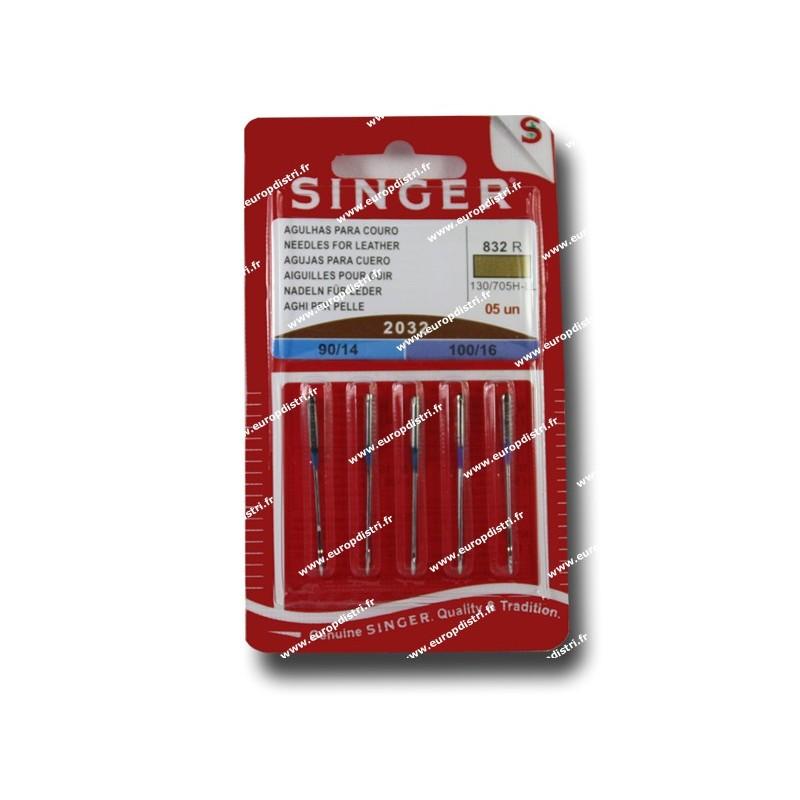 Aiguille SINGER 2032 / cuir 90 /100  x 5 (832) Réf 80/85/1832