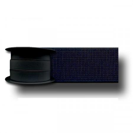 Elastique cotelé noir 19mm Réf ELAST19/NOIR