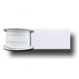 Elastique cotelé blanc 25mm Réf ELAST25/BLANC