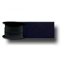 Elastique cotelé noir 25mm Réf ELAST25/NOIR