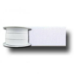 Elastique cotelé blanc 50mm Réf ELAST50/BLANC