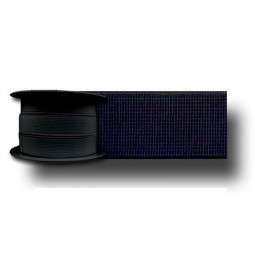 Elastique cotelé noir 6mm Réf ELAST6/NOIR