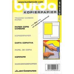 Carbone jaune et blanc BURDA Réf 57/95/1216