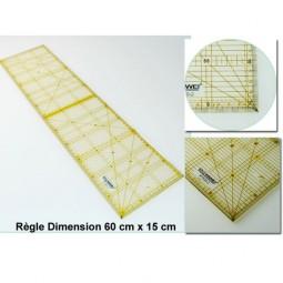 Régle quilting 150x600x3MM Réf 57/95/1650