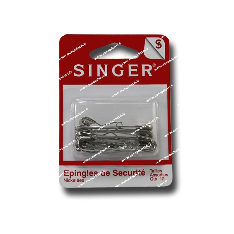 Epingles de securite  qte 12 Assorties SINGER SF410.99 Réf 57/95/1029