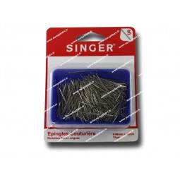 Epingles  couturiere nickelees 0,60mm x 30mm 25 gm SINGER SF701 Réf 57/95/1037