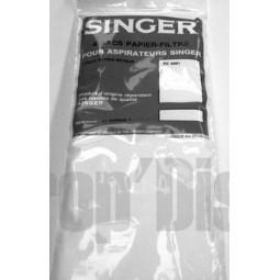 Sacs aspirateur SINGER lot de 4 pour Singer FC4001 Réf SAC.1638