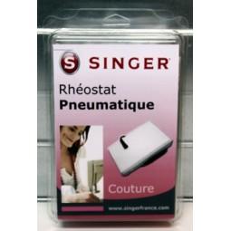 Rhéostat pneumatique blanc grand sous blister Singer réf 55/85/1001.B