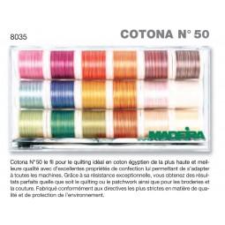 Boîte de fils COTONA N°50 MULTI - Réf 8035
