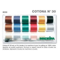 Boîte de fils COTONA N°30 - Réf 8030