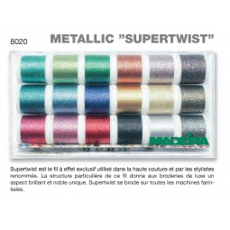 Boîte de fils METALLIC SUPERTWIST - Réf 8020