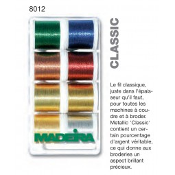 Boîte de fils METALLIC CLASSIC - Réf 8012