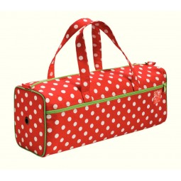 sac a ouvrage polka pois rouge blanc  Réf 612210