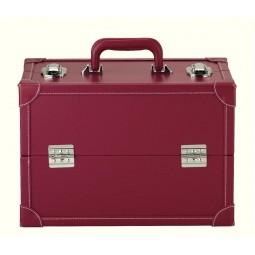 coffret aspect cuir L rouge Réf 66/612814