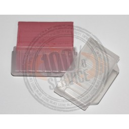 Craie tailleur rouge en étui avec affûteur Réf 57/95/1181