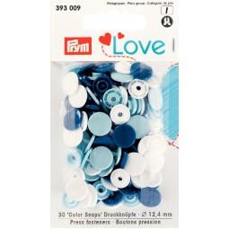 Boutons pression col. Ass. 12,4mm Prym Love Réf 66/393009