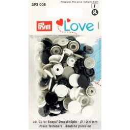 Boutons pression col. Ass. 12,4mm Prym Love Réf 66/393008