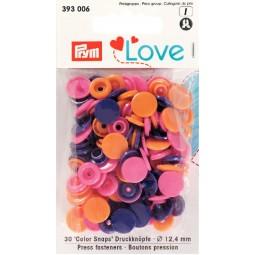 Boutons pression col. Ass. 12,4mm Prym Love Réf 66/393006