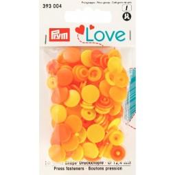 Boutons pression jaune 12mm Prym Love Réf 66/393004