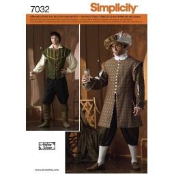 Costume historique troubadour SIMPLICITY Réf S7032.A