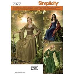 Robe historique Damoiselle SIMPLICITY Réf S7077.N5