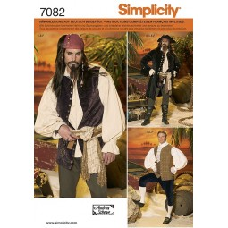 Costume pirate pour hommes SIMPLICITY Réf S7082.AA