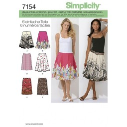 Jupes mi longues à godet SIMPLICITY Réf S7154.P5
