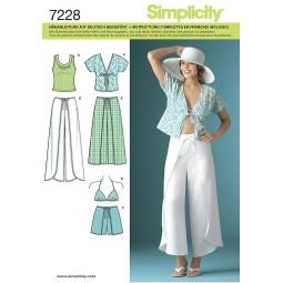 Pantalon, short, haut, soutien gorge SIMPLICITY Réf S7228.H5