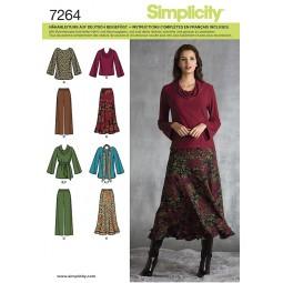 Pantalon, jupe, haut et ceinture SIMPLICITY Réf S7264.AA
