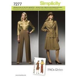 Blouse, jupe, pantalon et veste SIMPLICITY Réf S7277.AA