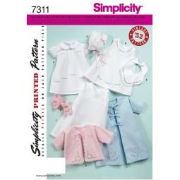 Ensemble bébé Baptême SIMPLICITY Réf S7311.A
