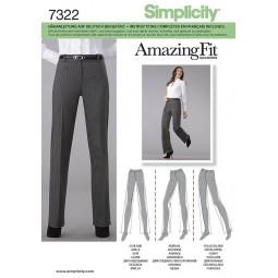 Pantalon droit à pli marqué SIMPLICITY Réf S7322.K5