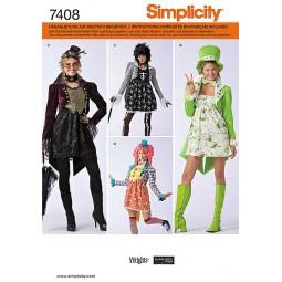 costumes, chapeaux et accessoires SIMPLICITY Réf S7408.RR