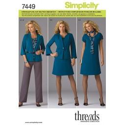 veste, jupe, pantalon SIMPLICITY Réf S7449.BB