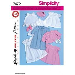 Vêtements pour bébés SIMPLICITY Réf S7472.A