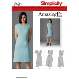 Robe sage SIMPLICITY Réf S7491.U5