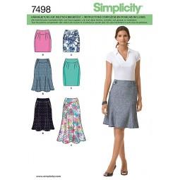 Jupe droite et évasée SIMPLICITY Réf S7498.P5