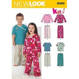 Patron de Pyjama garcon et fille NEW LOOK Réf NL6090